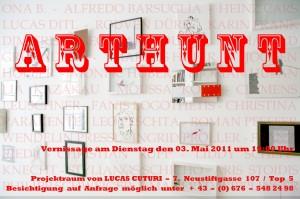 © Lucas Cuturi 2011, Einladungskarte ARTHUNT